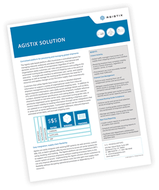 supply chain management solutions agistix