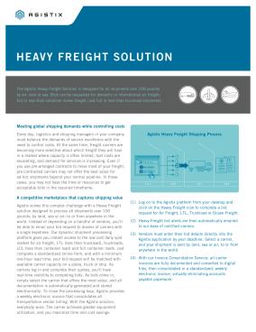 Datasheet: Heavy Freight Solution